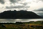 utiskt över berg i Nea Zeeland