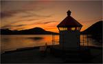 Solnedgang over Ørstafjorden
