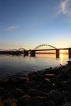 Bergnäsbron - solnedgång