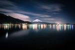 Lake Kawaguchi och Mount Fuji
