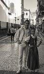 Par i foldräkt. Funchal, Madeira