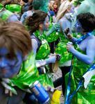 smurfarna på Lundakarneval