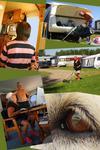 Collage från långtidscamping