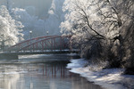 Januaridag, och rimfrost längs Fyrisån