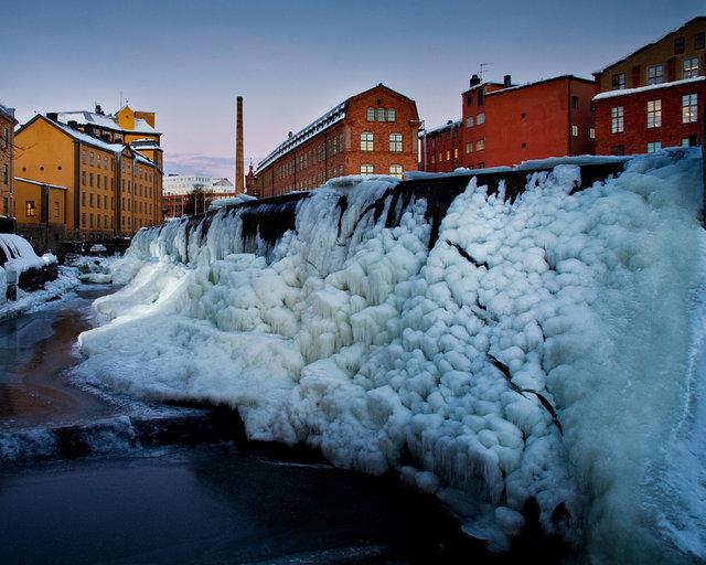 Industrilandskapet i is
