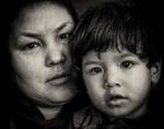 Mor och son. Från Kabul.