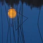 Full moon reflection