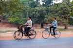 Cyklister i Kambodja