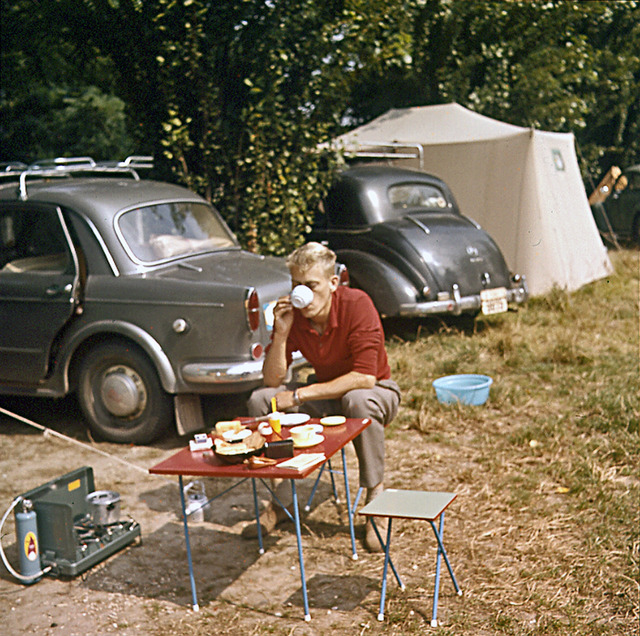 Morgonkaffe i Paris 1960