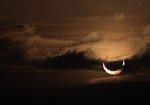 Solar eclipse at sunrise. Jan 4 2011 (time-lapse)