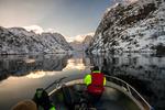 På väg in i Trollfjorden