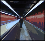 Alone in le Metro