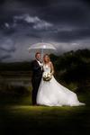 Rainy day happy wedding