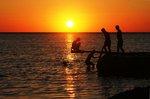 Kvällsdopp på Gotland