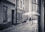 Där, under paraplyet