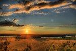 Solnedgången från Hunneberg