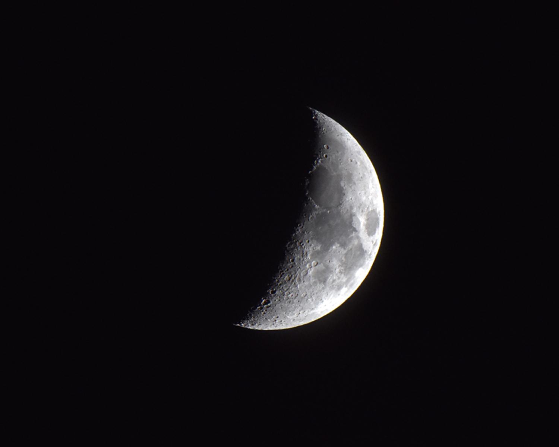 Nymåne den 4 januari 2017