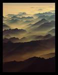 Alperna i kvällsljus