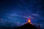 Stars over Volcano Acatenango