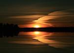 Solnedgång över Dalälven