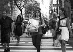 NY Woman with bag