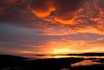Solnedgång på Veiholmen, Norge