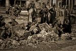 Torghandel på marknaden i Leh