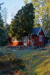 Ett av Skogsös värst drabbade hus