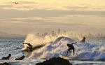 Sista surfen för kvällen