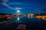 Moonshine over the harbour