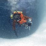 Dykare på isberg