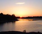 Solnedgång i Stendörrens naturreservat