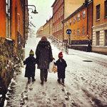 Snö i stan