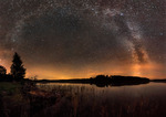 Vintergatan över Stora Ulvsjön