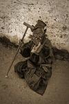 Den gamle ladakiern blir fotograferad - en man med integritet