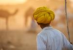 Kväll på kamelmarknaden i Pushkar.