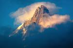 Solnedgång i Alperna