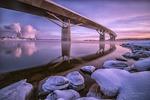 Vinterkväll vid bron