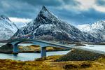 Broar och vägar på Lofoten, Norge