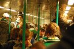 På tåget mot Solna
