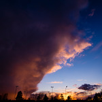 Stormcloud over the old rink