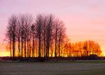 Solen går ner i Fånby