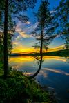 Solnedgång, Åsele