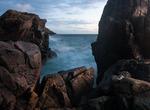Bronsblänk på klipporna