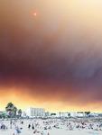 Skogsbranden närmar sig