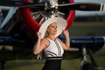Sandra och flygplan €