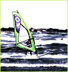 Surfer green & blue