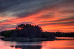 Solnedgång i Slätbaken