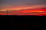 Solnedgång med vinden