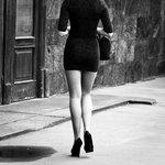 on high heels....